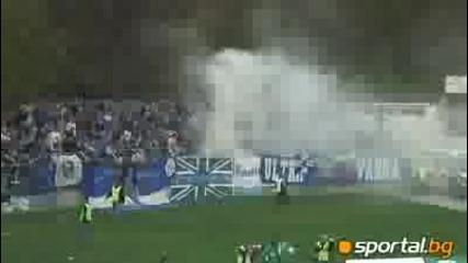 Ultras Levski aways at the lovech town vs Litex