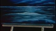 S03 Радостта на живописта с Bob Ross E02 - синя луна ღобучение в рисуване, живописღ