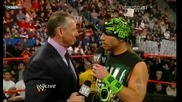 Vince Mcmahon Addresses Bret Hart Return with Shawn Michaels 2/2 12/28/09
