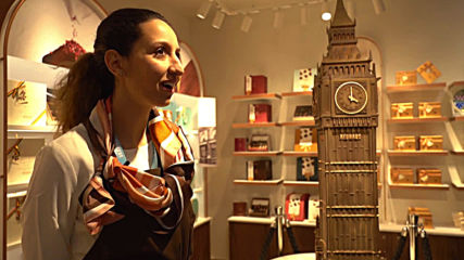Giant chocolate Big Ben statue unveiled at London store