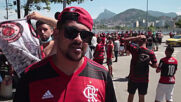 Brazil: Flamengo fans arrive at Rio de Janeiro airport to support squad ahead of crucial game