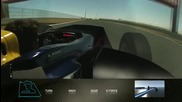 Една обиколка на пистата Сахир с Mark Webber със симулатора на Red Bull F1 Team