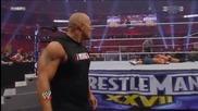 Wrestlemania 27 - The Rock Bottom to John Cena