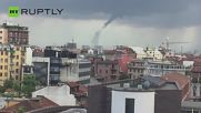 Watch the Moment Tornado Forms South of Milan