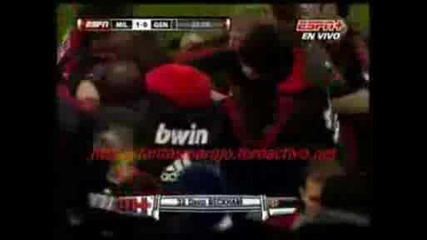 Ac Milan - Genoa - (11) David Beckham - Great Freekick Goal Seri