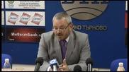 preskonferencia na rektora na vtu prof dpn Plamen Legkostup 25 09 2012