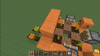 Minecraft Automatic Pumpkin and Melon Farm Tutorial (kak da si napravim)