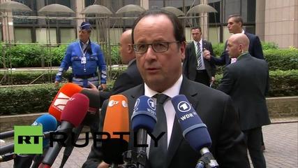 Belgium: French President Hollande opposes temporary 'Grexit'