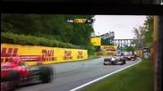 F1 Гран при на Канада 2011 - Марашал се спъва на пистата и пада и за малко не го сгазват Hd