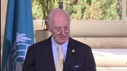 Switzerland: De Mistura laments aid not reaching besieged areas in Syria