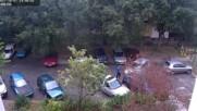 Блондин как паркира!