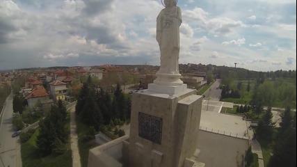 Град Хасково- Заснет от високо 2013 год.