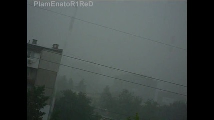 По време на голямата буря във Варна (26.07.2010)