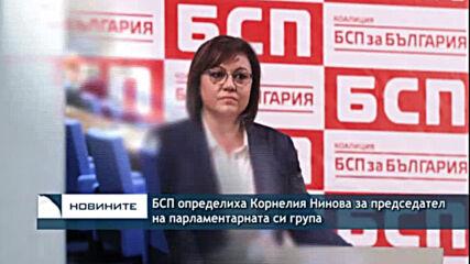 БСП определиха Корнелия Нинова за председател на парламентарната си група