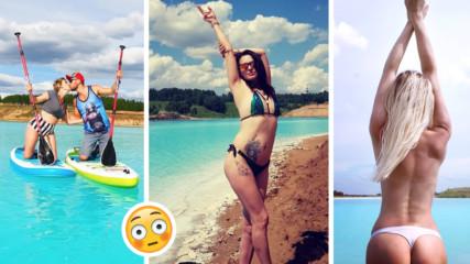 Новият хит - сибирските Малдиви! Инфлуенсъри налазиха езеро, водите му - радиоактивни