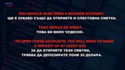 Аз уча английски език . Сезон 6, епизод 287 , Диалог на български