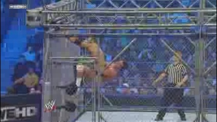 Wwe smackdown Steal Cage Match Christian vs Alberto Del rio 18/3/2011