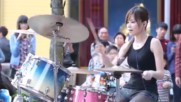 The Amazing Entertaining Female Street Drummers of Asia