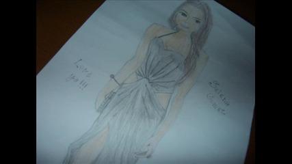 Рисунка на Selena Gomez ^_^