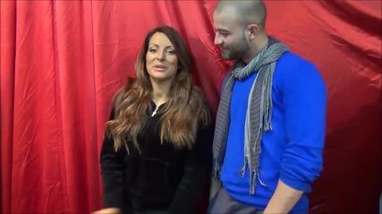 Dancing Stars - Сани Жекова и Симеон преди предаването 18.03.2014г.