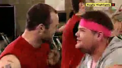 Very Funny Man Utd. Players sing __best Around__ and do Aerobics w_ _gavin and Stacey_.