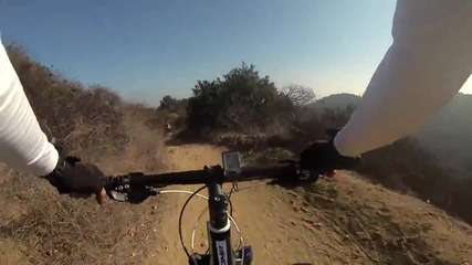Gopro Hero 3-mountain Biking Turnbull Canyon | Планинско колоездене Turnbull Канион