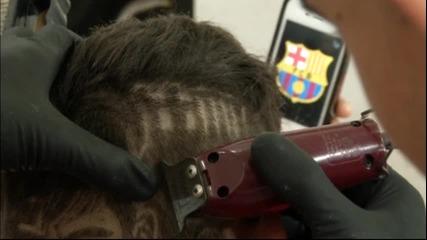 Бразилски фризьор извая Неймар