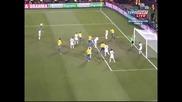 И великолепен Гол на Лусио с глава Бразилия побеждава с 3 - 2