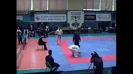Александър Мушков - шампион на България по Киокушин 2011, категория - 90+