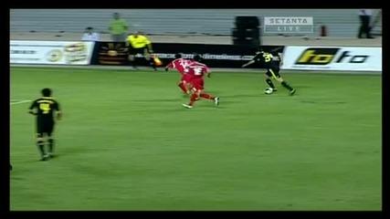 Работнички 0 - 2 Ливърпул (гола на Нгог за 0 - 2)