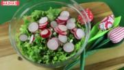 Зелена салата с репички