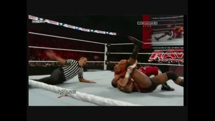 Wwe.monday night Raw 10.04.10 - John Cena and Micheal Tarver vs Evan Bourne and Mark Henry
