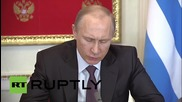 Russia: Putin touts expansion of trade with Greece