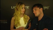 Jennifer Lawrence, Josh Hutcherson At Hunger Games Exhibition Event