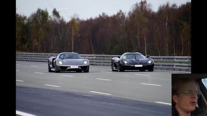 Дългоочакваният сблъсък - Koenigsegg Agera R (1140 к.с.) vs Porsche 918 Spyder (887 к.с.)