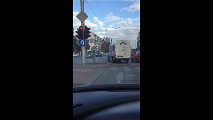 Нагъл шофьор в Пловдив