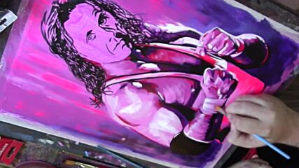 """The Legacy of Bret """"Hit Man"""" Hart: WWE Canvas 2 Canvas"""
