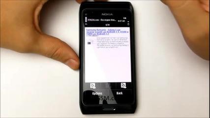 Nokia E7 - 00 video review - Apps