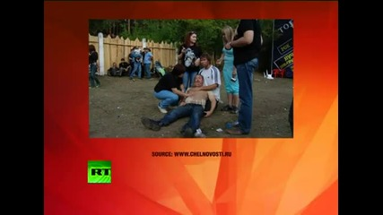 Russian Skinhead Army attacks rock fest