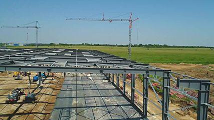 ВИТТЕ Аутомотив България - строителните дейности към Август 2018