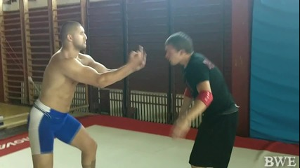 Keч Мания - Rampage vs Милен Желев wrestling test 7
