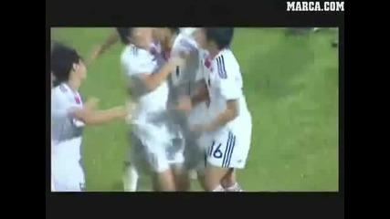 Японка вкарва страхотен гол!