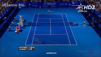 Страхотна игра на Григор Димитров срещу Анди Мъри
