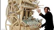 Уникално: Дървена машина свири с 2000 топчета
