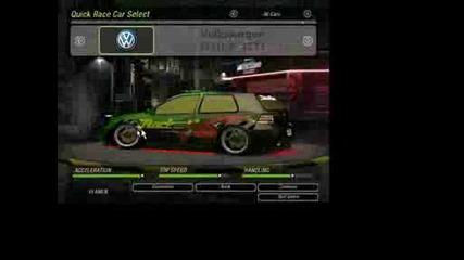 Nfs U2 - My Cars