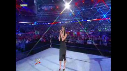 Wwe Wrestlemania 25 Nicole Sherzinger - America The Beauty
