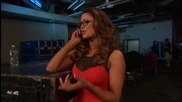 Raw 22th October 2012 Eve Torres, Kaitlyn Layla Catfight Backstage