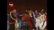 Здрав Бой между баскетболистите на Китай и Бразилия