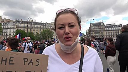 France: Protesters stage demo against COVID health pass in Paris