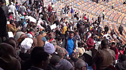 Egypt: Sisi supporters flock to Cairo stadium to celebrate 10th anniv. of Jan 25 uprising